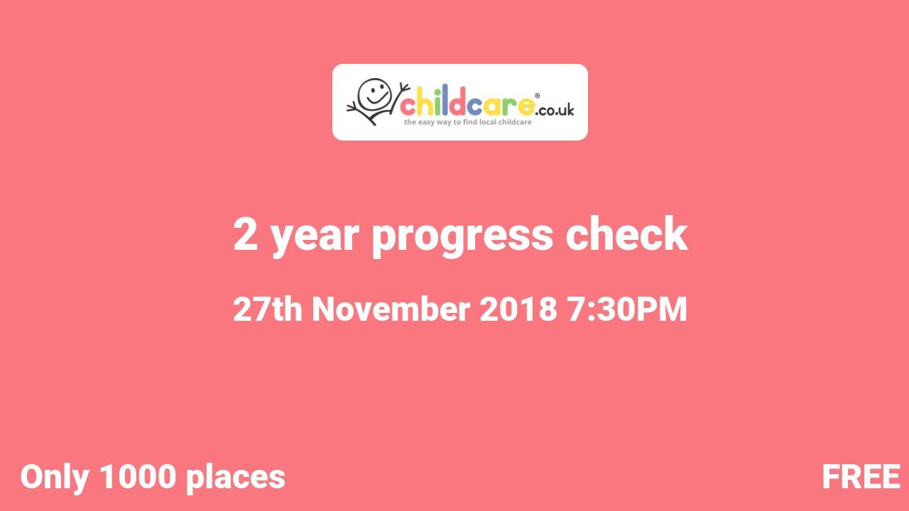 2 year progress check poster
