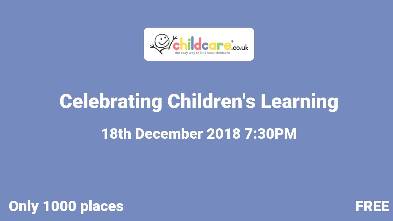 Celebrating Children's Learning poster