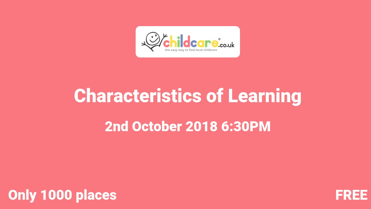 Characteristics of Learning poster