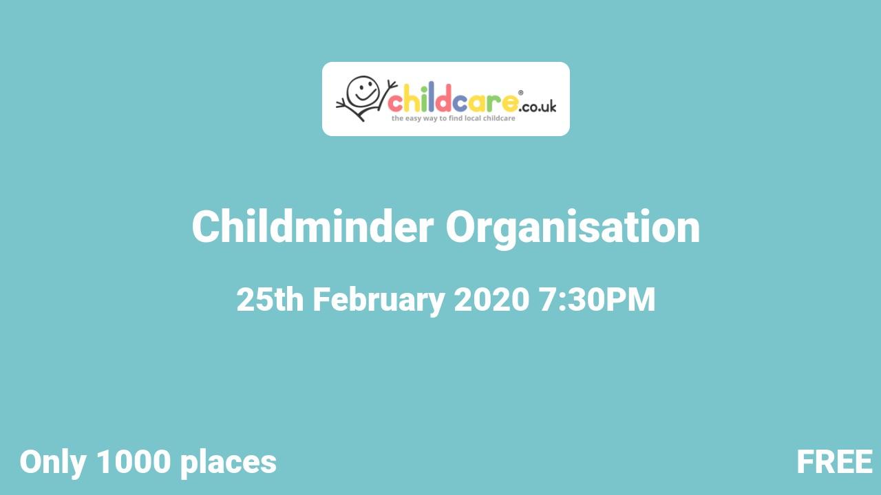 Childminder Organisation  poster