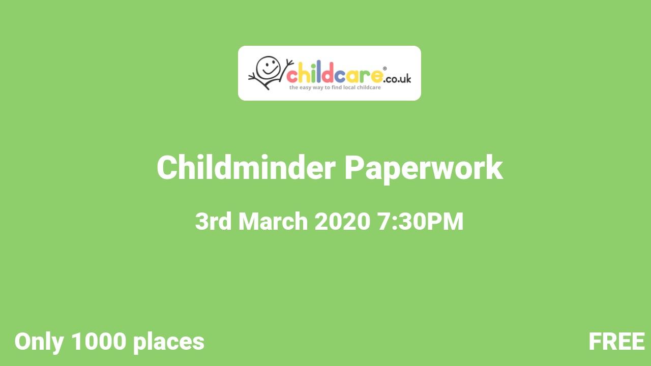 Childminder Paperwork poster