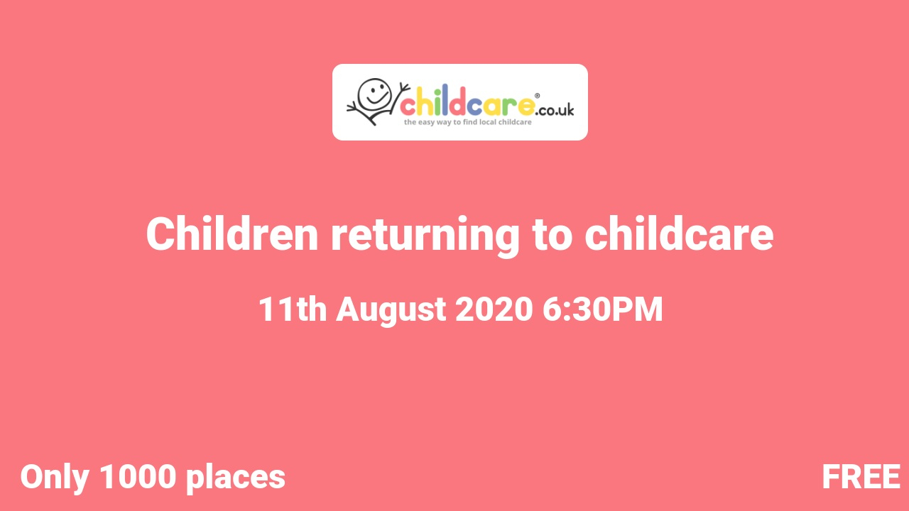 Children returning to childcare poster