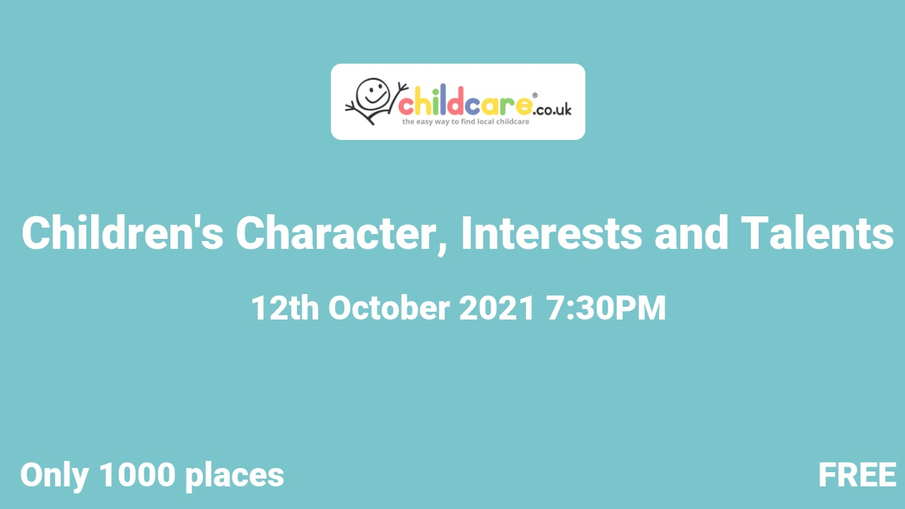 Children's Character, Interests and Talents poster