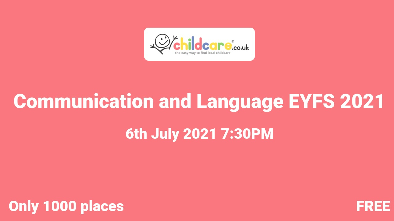 Communication and Language EYFS 2021 poster
