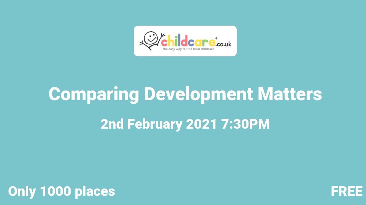 Comparing Development Matters  poster