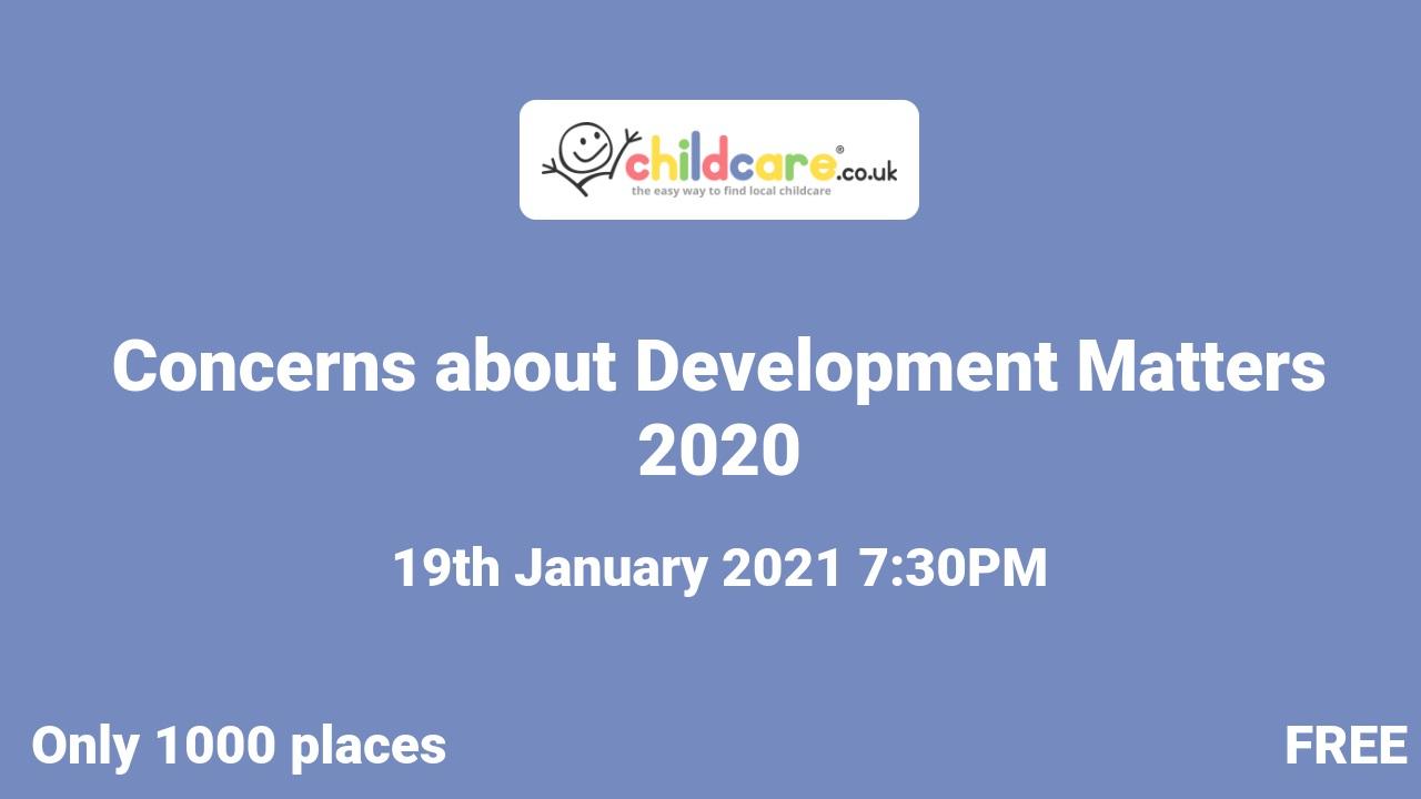 Concerns about Development Matters 2020 poster
