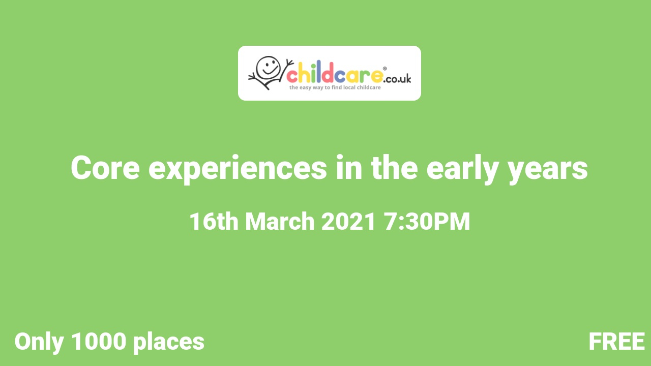 Core experiences in the early years poster