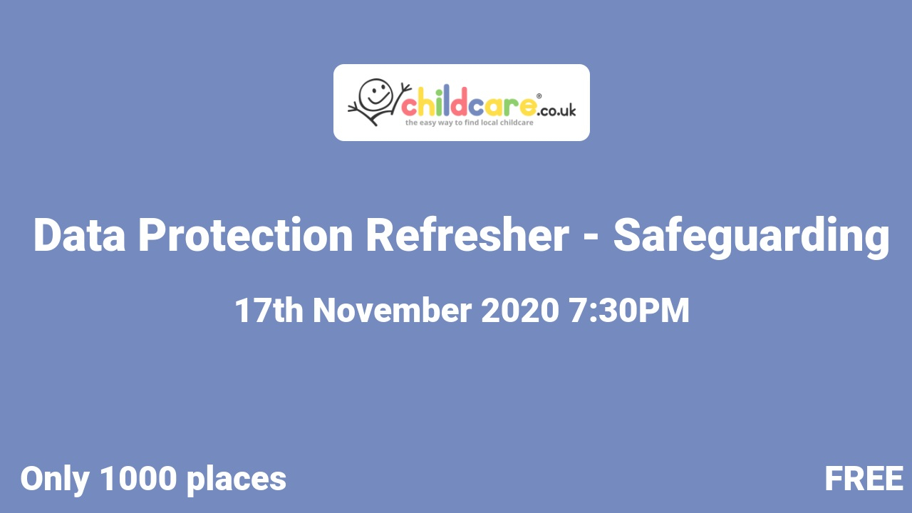 Data Protection Refresher - Safeguarding  poster