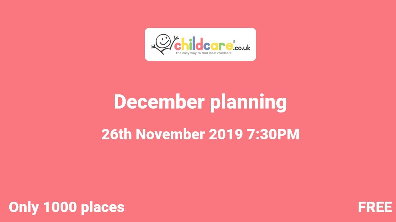 December planning poster