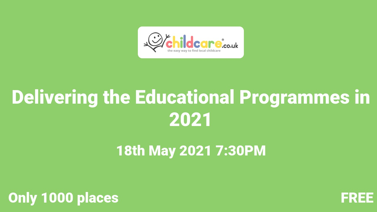 Delivering the Educational Programmes in 2021 poster
