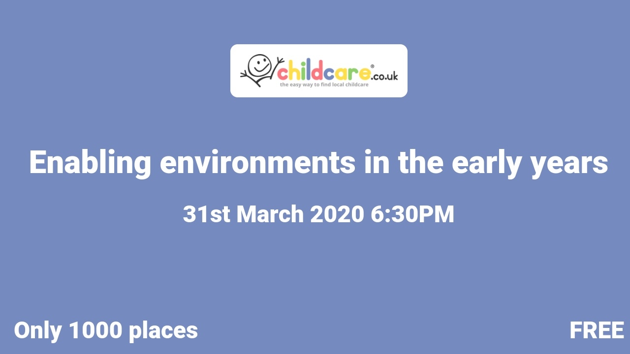 Enabling environments in the early years poster