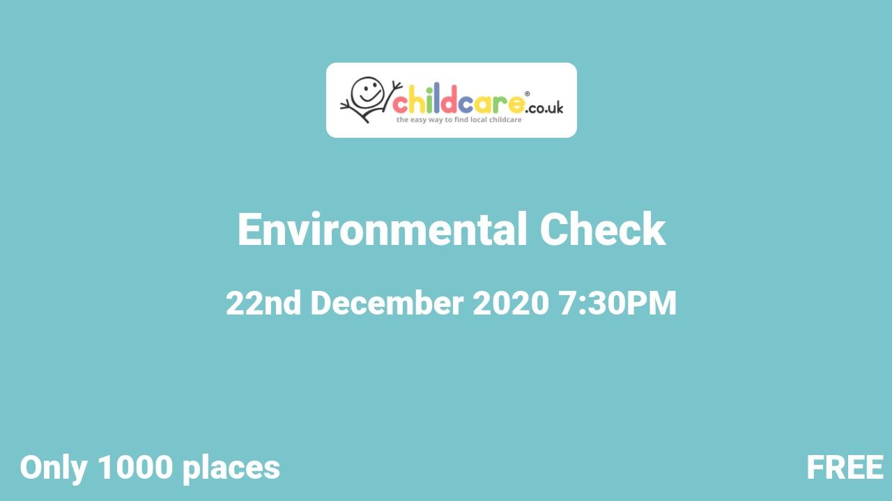 Environmental Check  poster