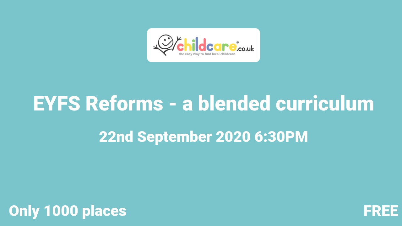 EYFS Reforms - a blended curriculum  poster