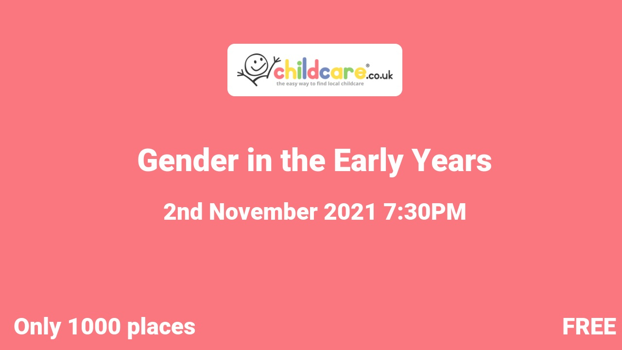 Gender in the Early Years poster