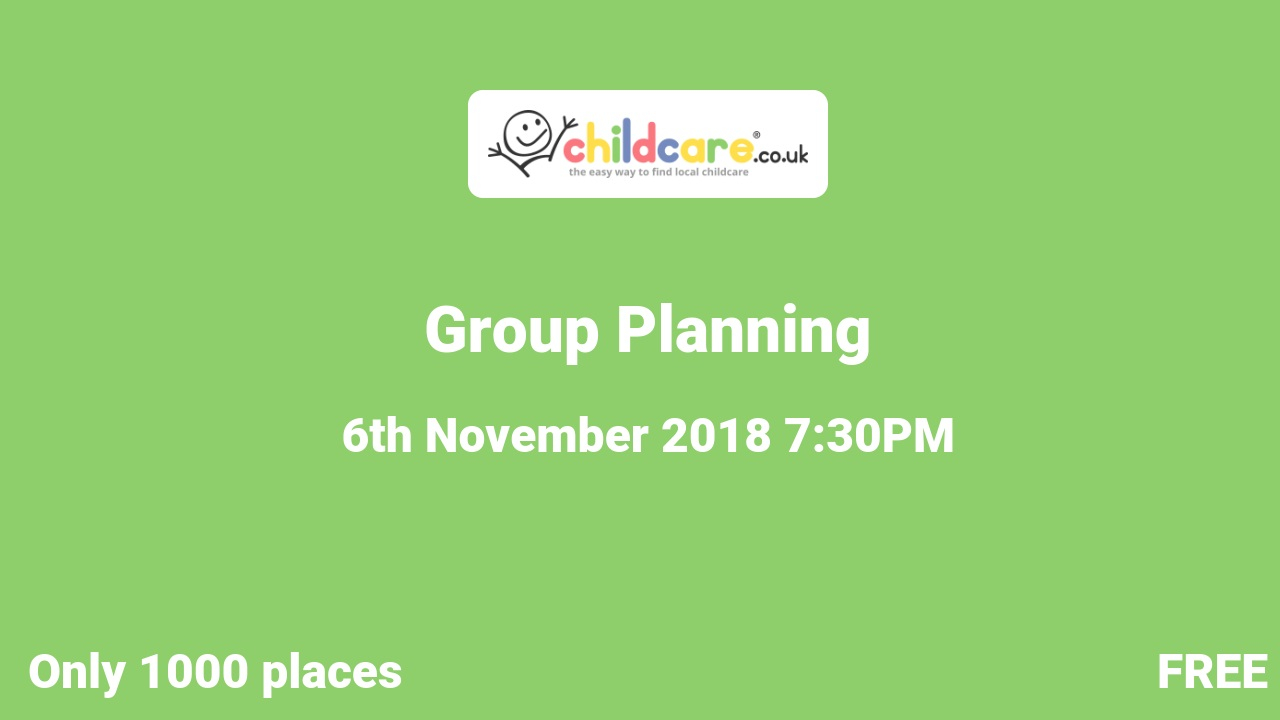 Group Planning poster
