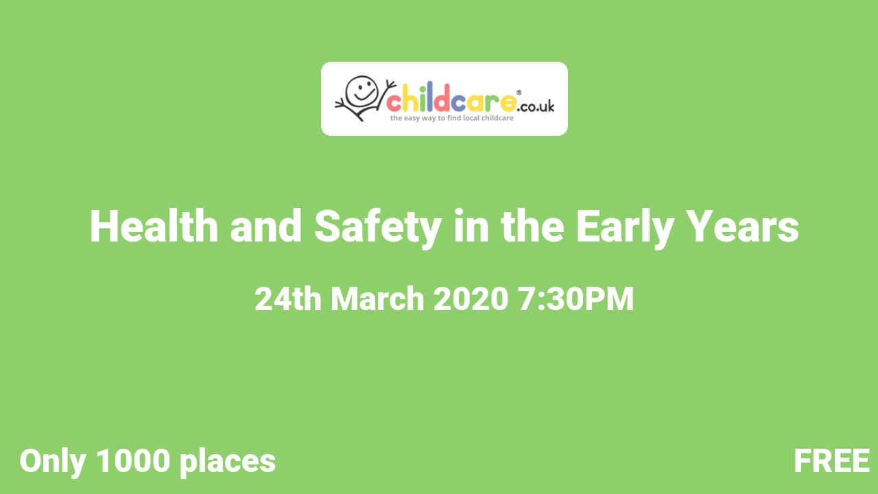 Health and Safety in the Early Years poster