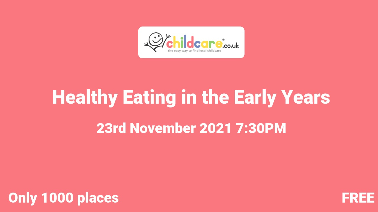 Healthy Eating in the Early Years poster