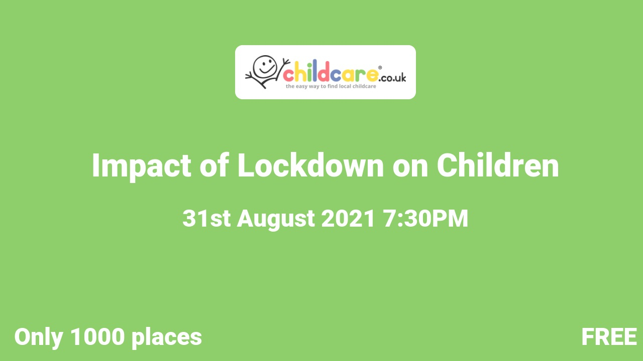 Impact of Lockdown on Children poster