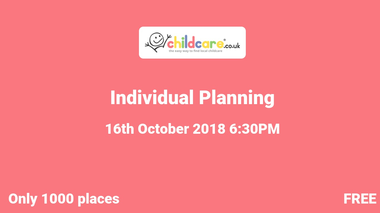 Individual Planning poster