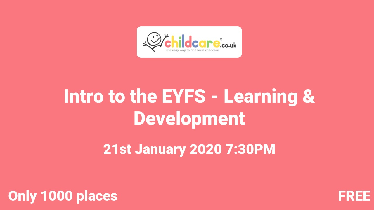 Intro to the EYFS - Learning & Development poster