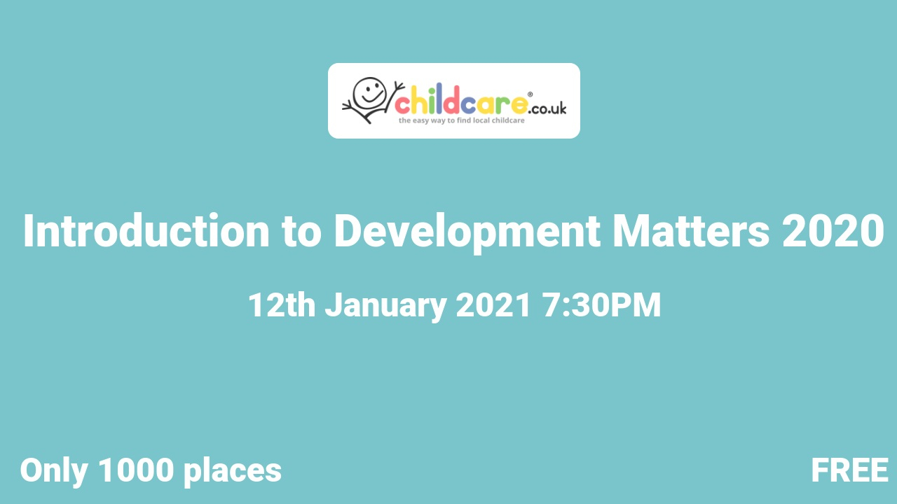Introduction to Development Matters 2020 poster