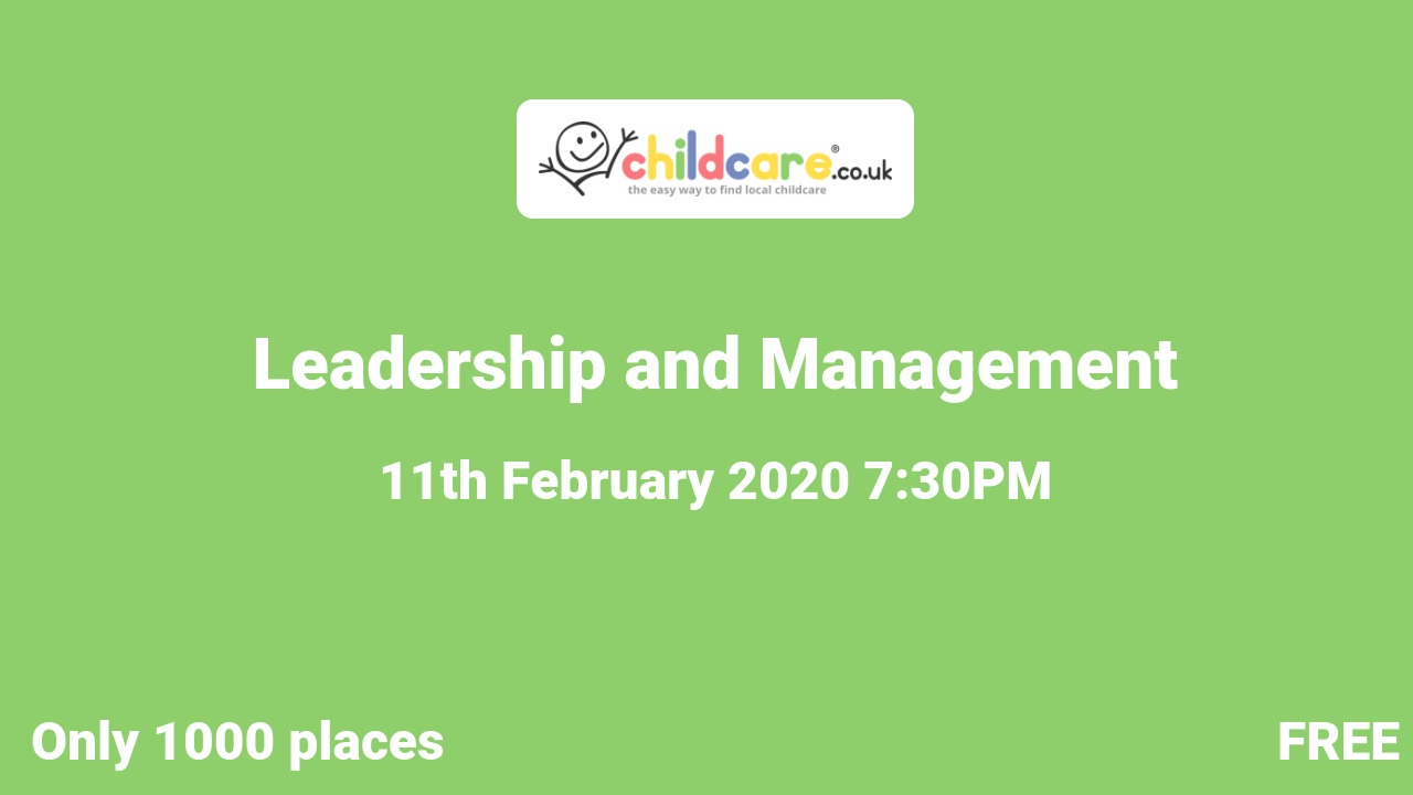 Leadership and Management poster