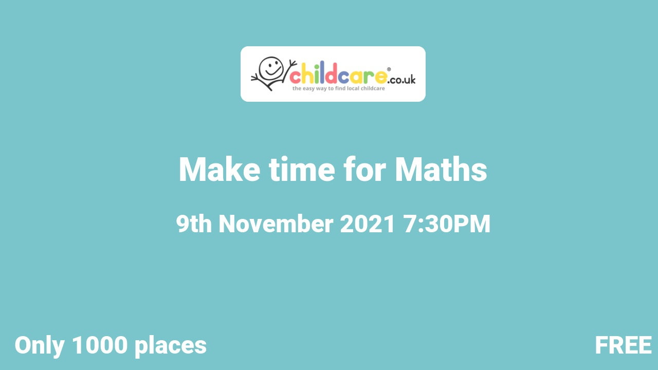 Make time for Maths poster