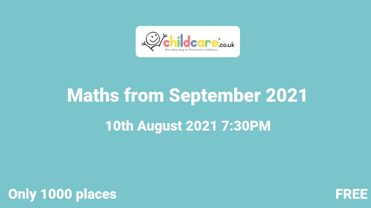 Maths from September 2021 poster