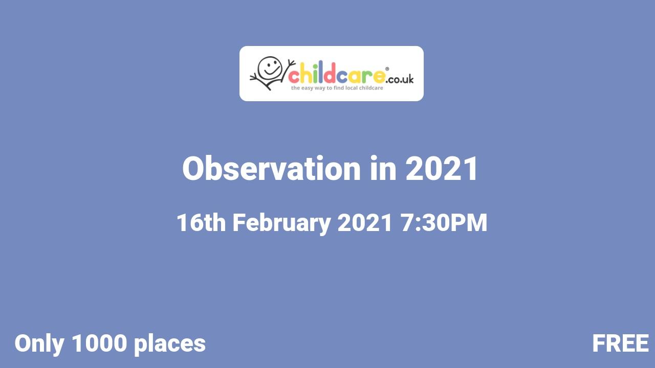 Observation in 2021 poster