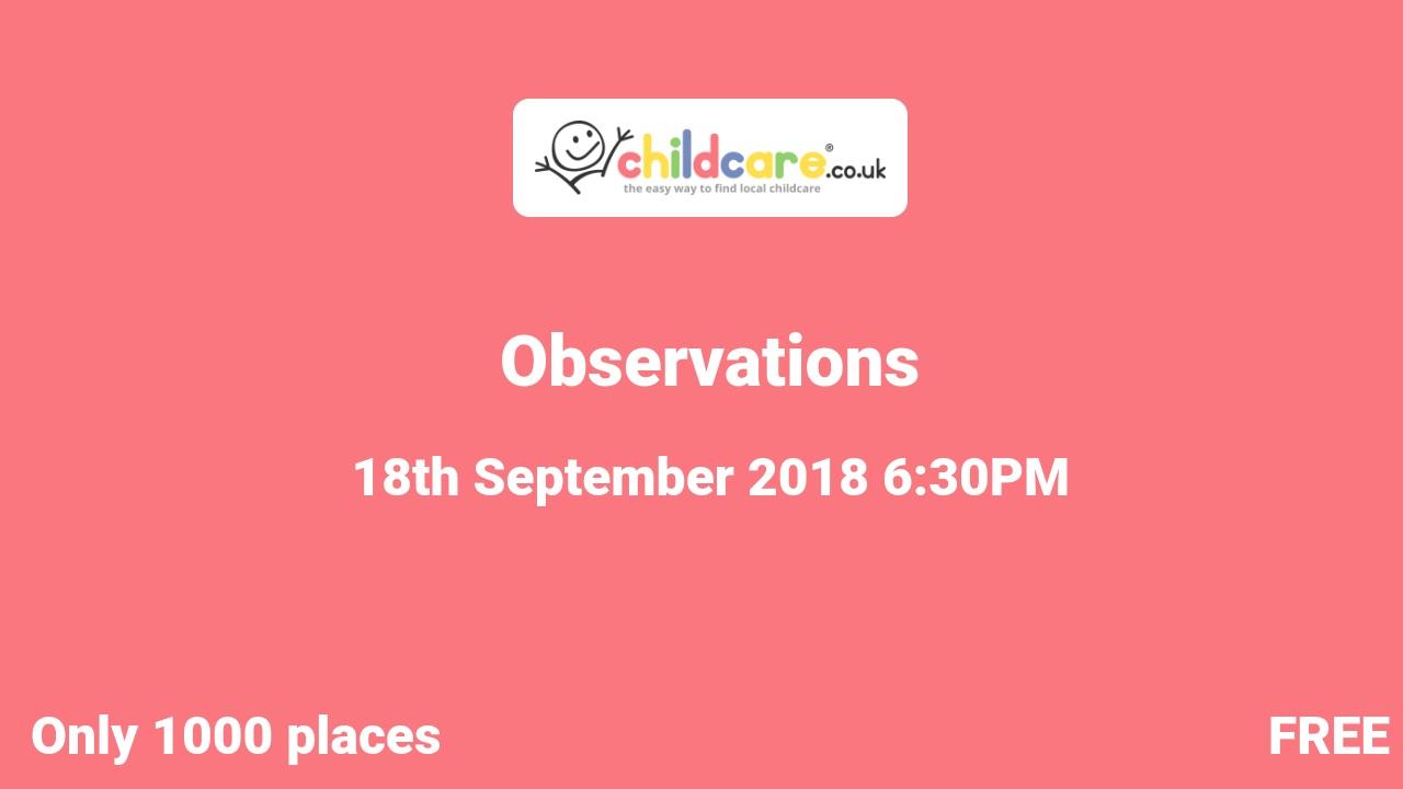Observations poster