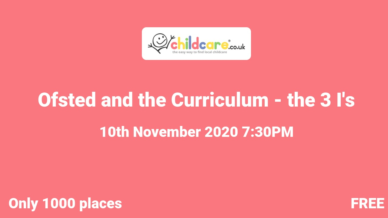 Ofsted and the Curriculum - the 3 I's poster