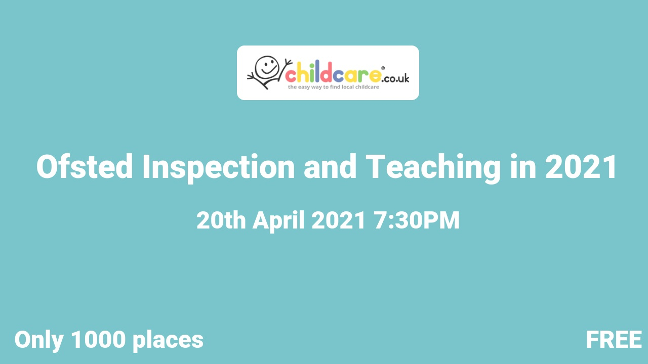 Ofsted Inspection and Teaching in 2021 poster
