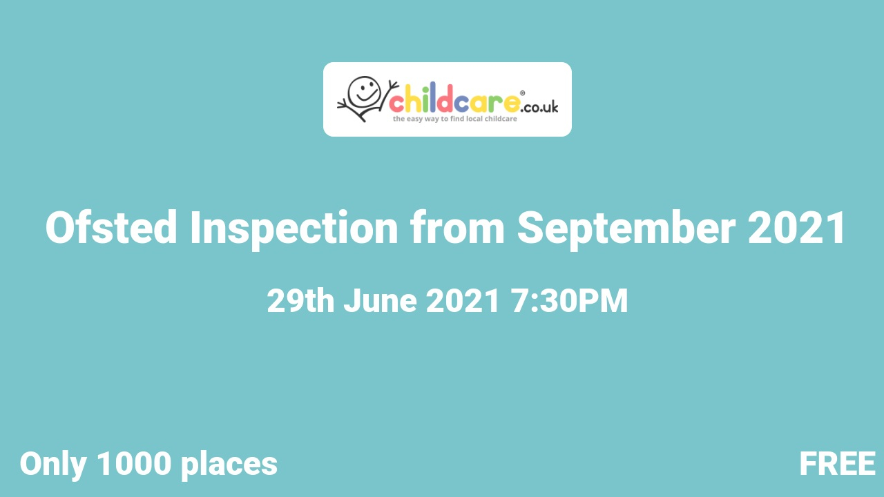 Ofsted Inspection from September 2021 poster
