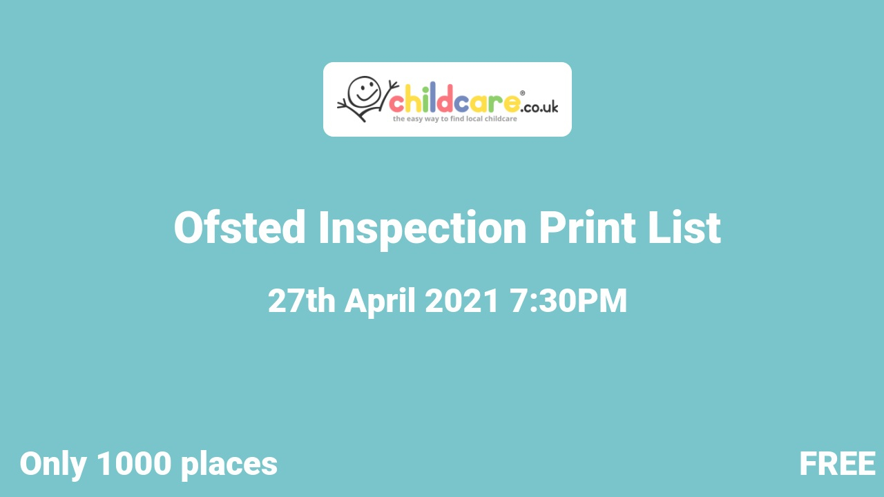 Ofsted Inspection Print List poster