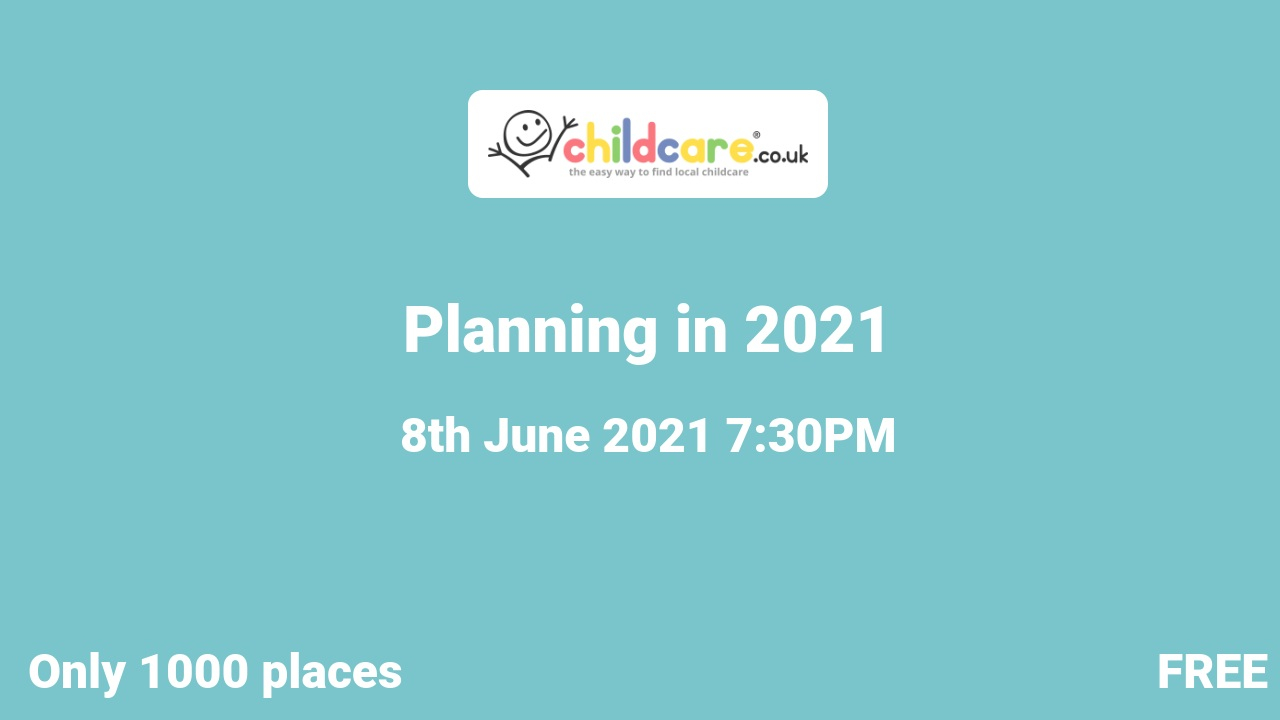 Planning in 2021 poster