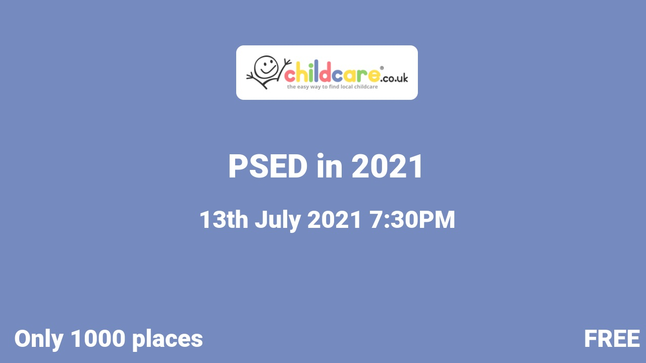 PSED in 2021 poster