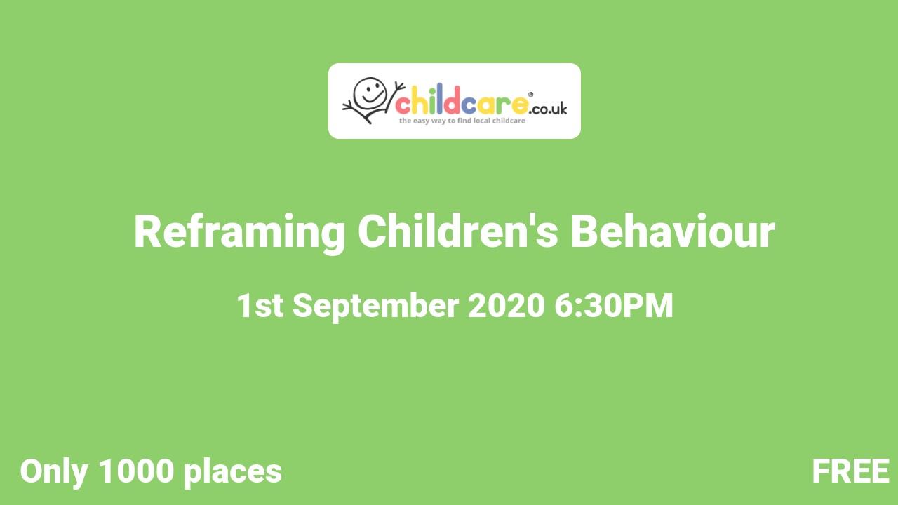 Reframing Children's Behaviour poster