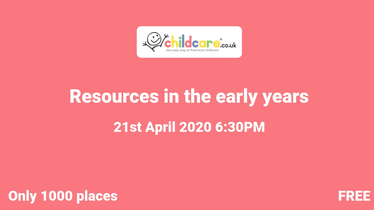 Resources in the early years poster