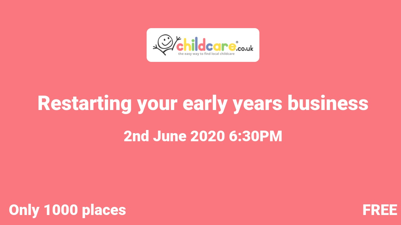 Restarting your early years business poster