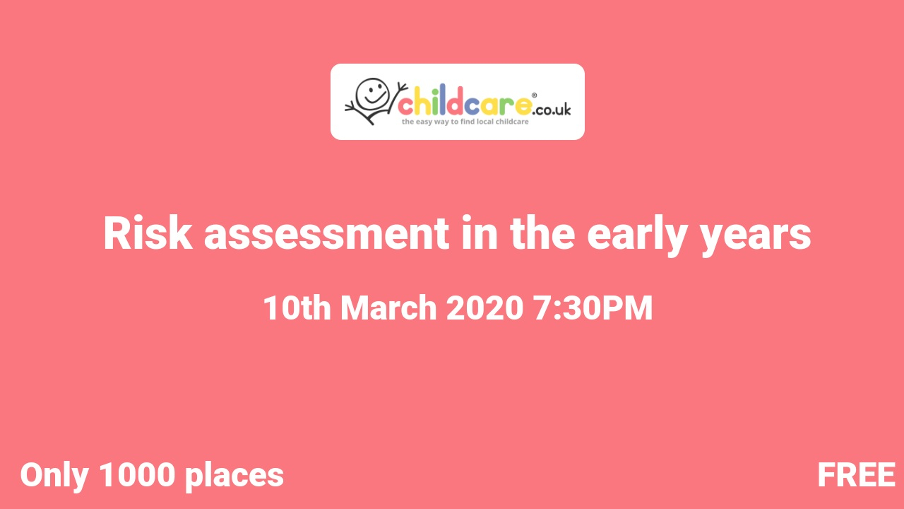 Risk assessment in the early years poster