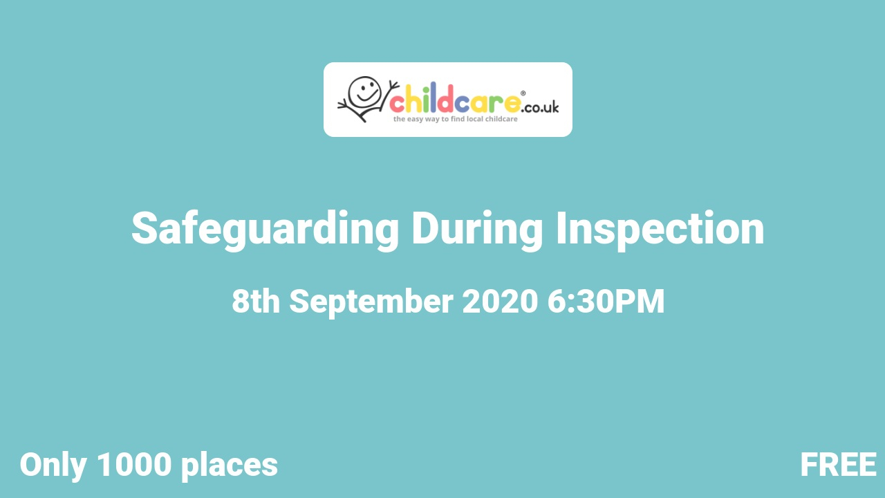 Safeguarding During Inspection  poster