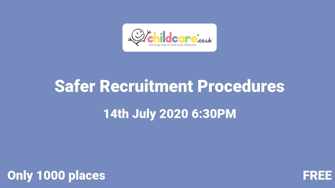 Safer Recruitment Procedures poster