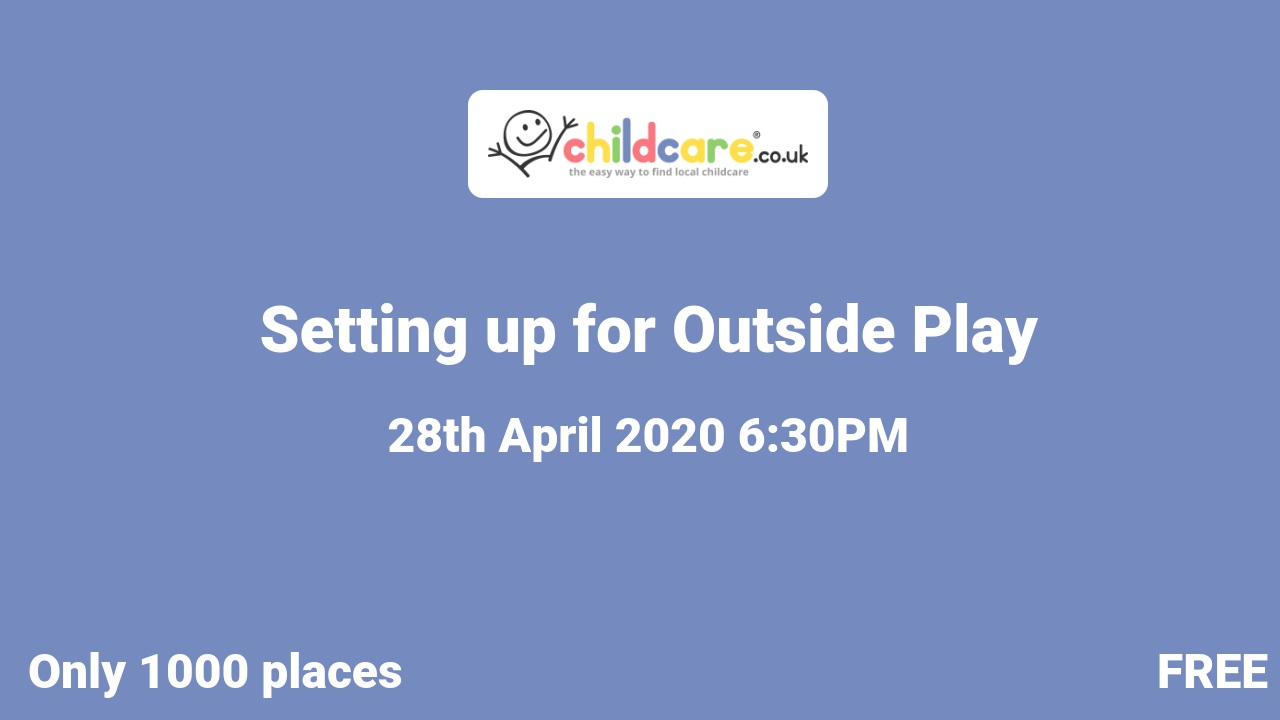 Setting up for Outside Play poster
