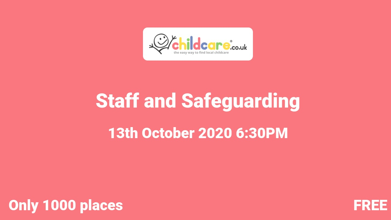 Staff and Safeguarding  poster