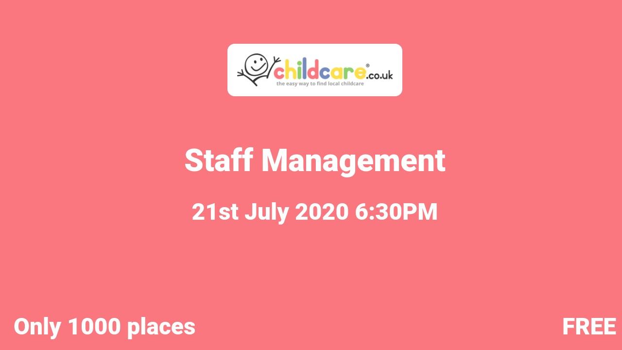 Staff Management  poster