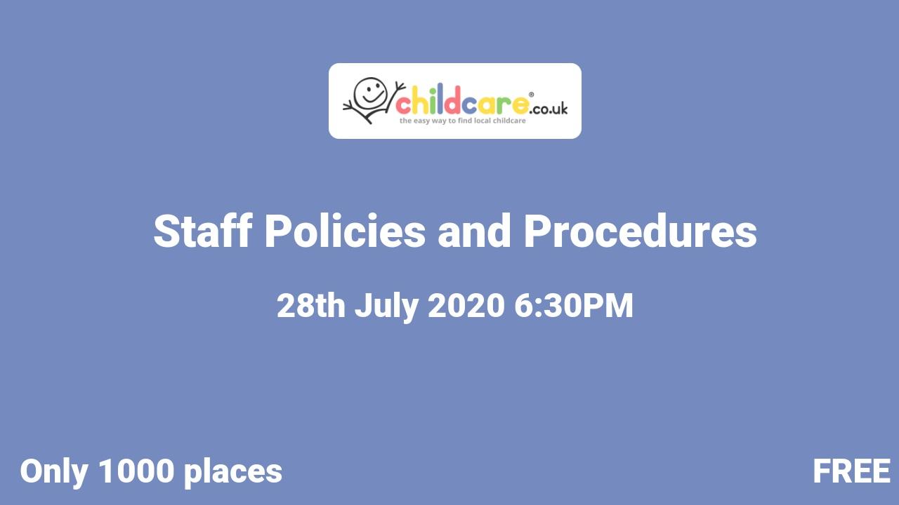 Staff Policies and Procedures poster