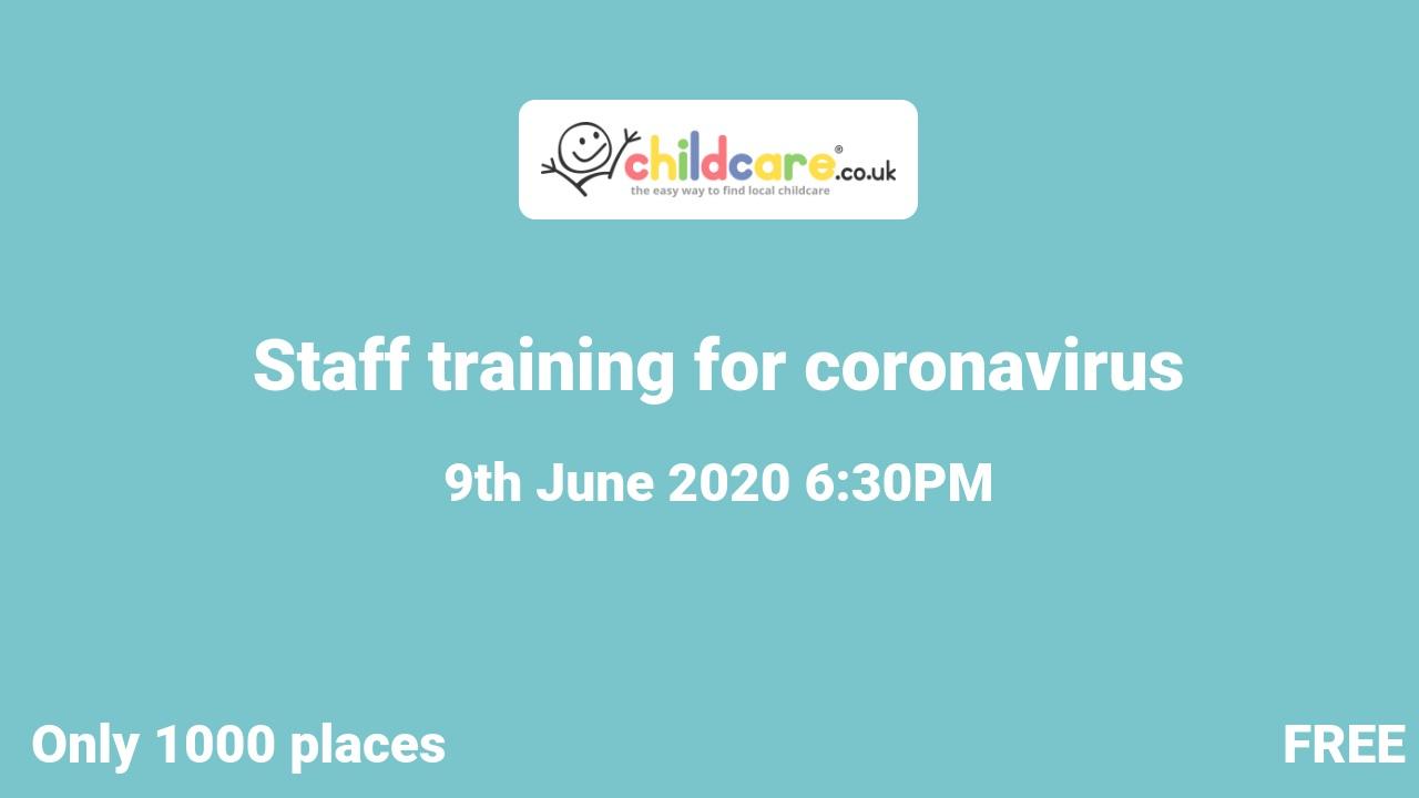 Staff training for coronavirus  poster