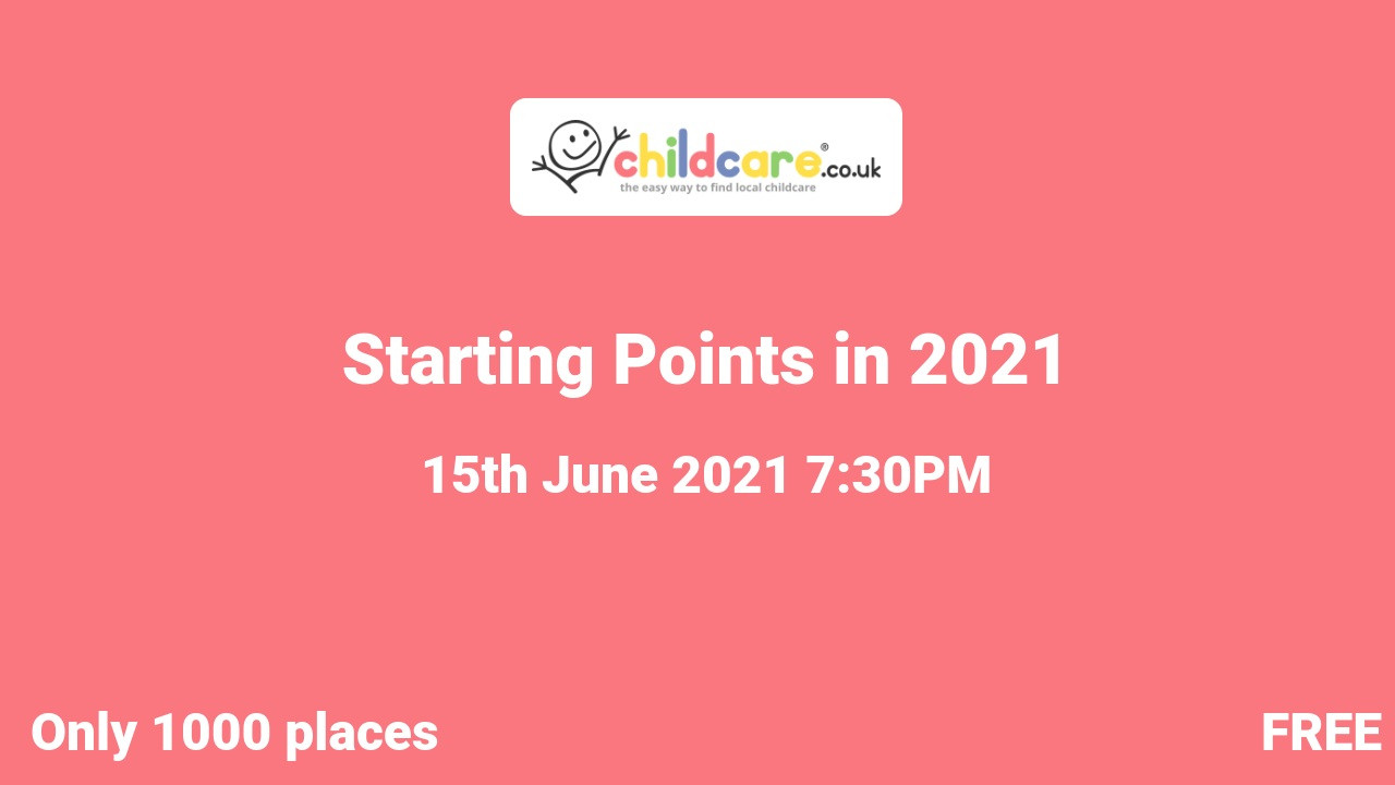 Starting Points in 2021 poster