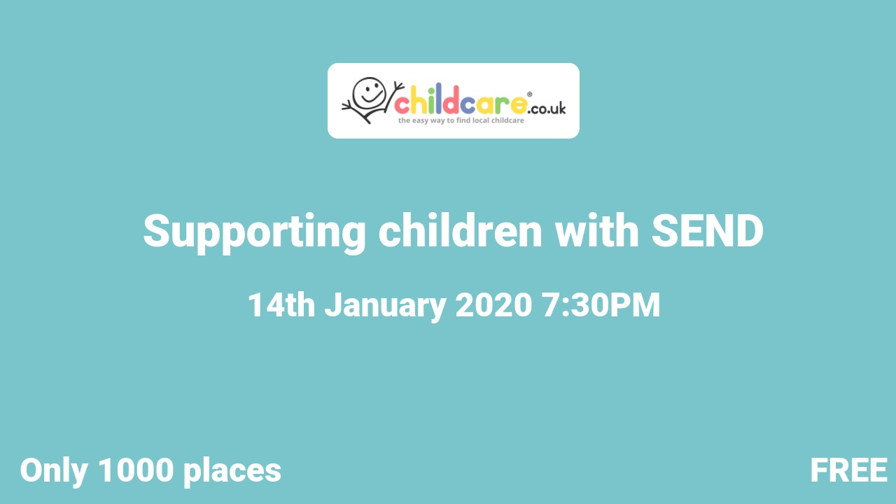 Supporting children with SEND poster