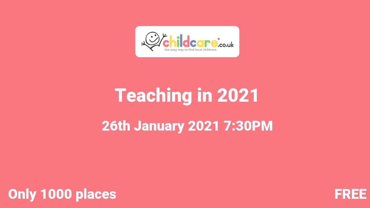 Teaching in 2021 poster